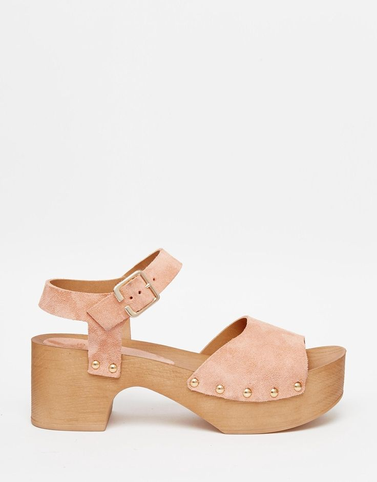 Image 2 of ASOS TICKLE Suede Clog Sandals
