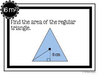 FREE Area of Regular Polygons Scavenger Hunt