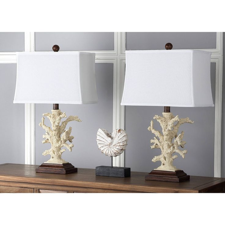 Safavieh Lighting 21-inch Beach Coral Table Lamps