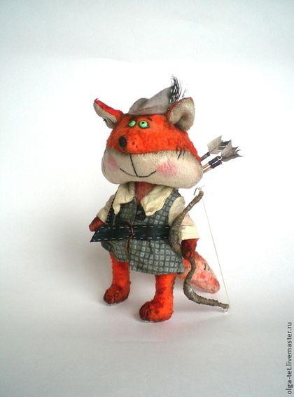 Робин Гуд. - рыжий,серый,мишки тедди,мишка ручной работы,лис,авторская ручная работа