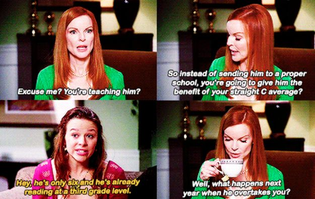 "When Bree was nothing but truthful with her own daughter. | 31 Of The Funniest Things To Ever Happen On ""Desperate Housewives"""