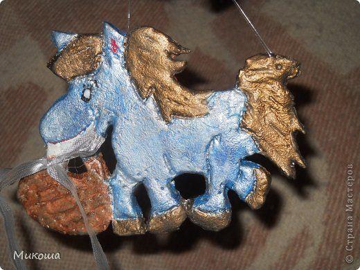 Мастер-класс Поделка изделие Ленивые лошадки  на конкурс-  http //stranamasterov ru/node/612099?c=favorite_c  Гуашь Тесто соленое Шпагат фото 1