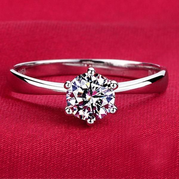 Sterling Silver Diamond Wedding Ring   AtPerrys Healing Crystals   1