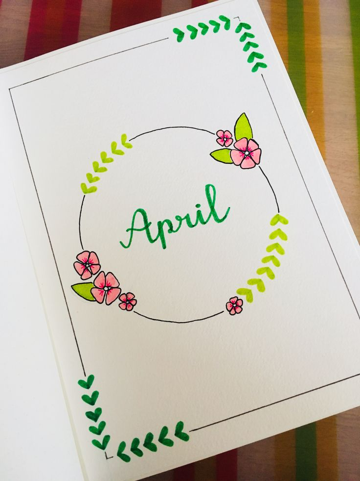 April Cover | Bullet Journal BuJo | Anique Gerrits✏️