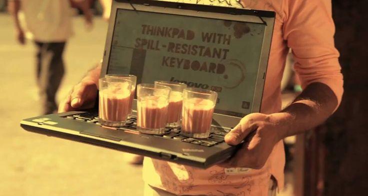 No hay porqué asustarse, nuestras ThinkPads son resistentes a los derrames. ThinkPad Spill Resistant.  www.lenovo.com/ar