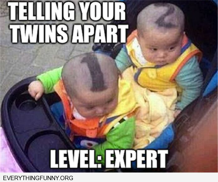 funny captions twins 1 and 2 haircut | Funny | Pinterest ...