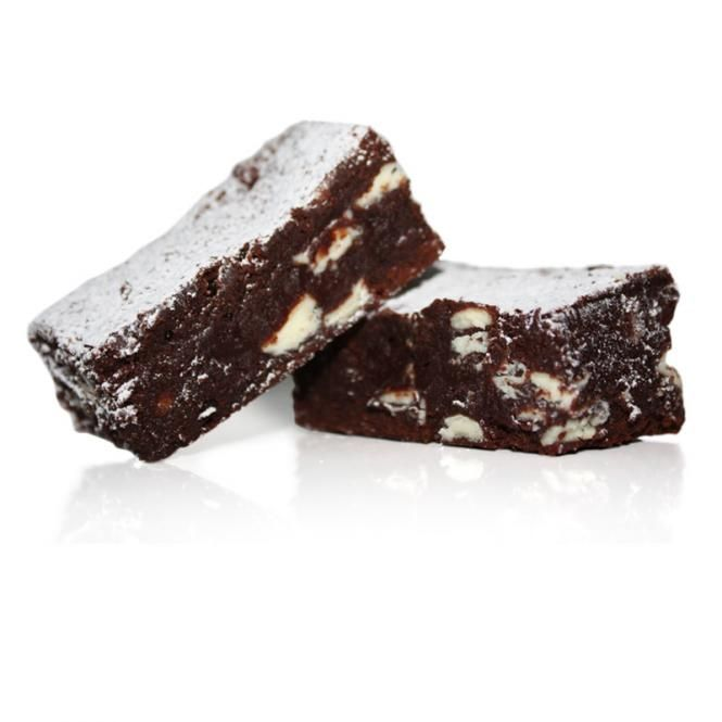 Chocolate Brownies with White Chocolate Morsels: 1-3/4 cups butter 14 ounces dark chocolate, chopped 2 cups brown sugar ½ cup cocoa powder 2 teaspoons vanilla extract 6 large eggs, beaten 1-1/2 cups all-purpose flour 2 cups white chocolate chips