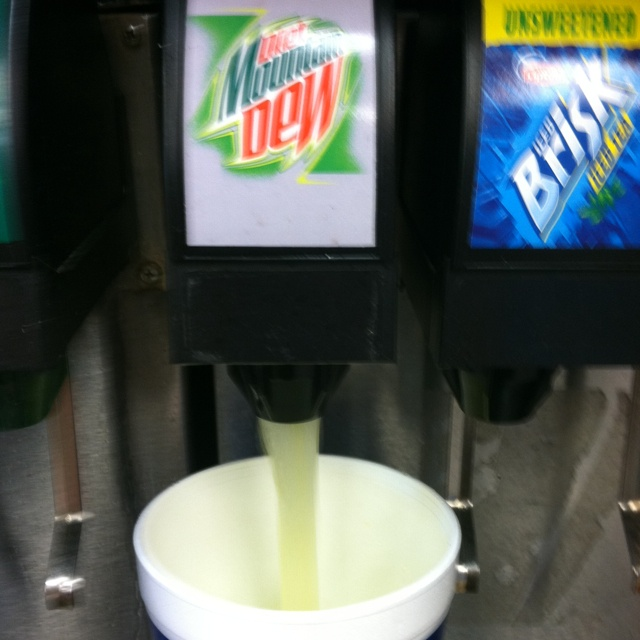 Fountain Diet Mountain Dew at the Circle K down the street ...