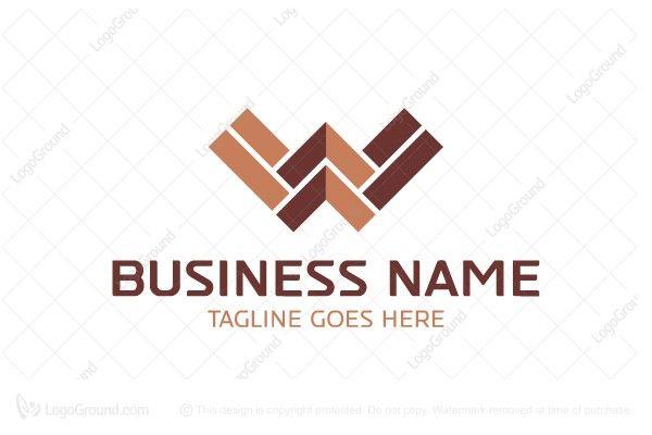 Letter W Wood Floor Logo Tile Logo Wood Floors Flooring