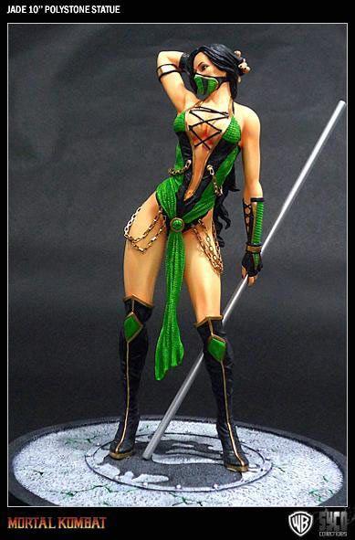 Estatua Mortal Kombat. Jade, Encharted Warriors, 25cm  Estatua de 25cm de Jade, gran guerrera ágil y habilidosa, personaje de la saga de videojuegos Mortal Kombat.