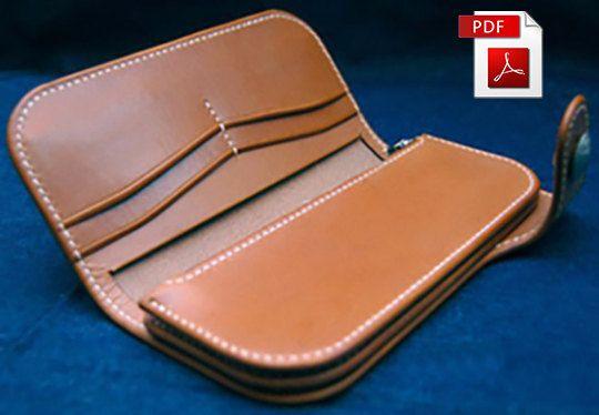 Leder Muster Brieftasche Muster Geldbörse Muster Leder Vorlage Leder PDF Leder Brieftasche Muster DIY Lederhandwerk Muster
