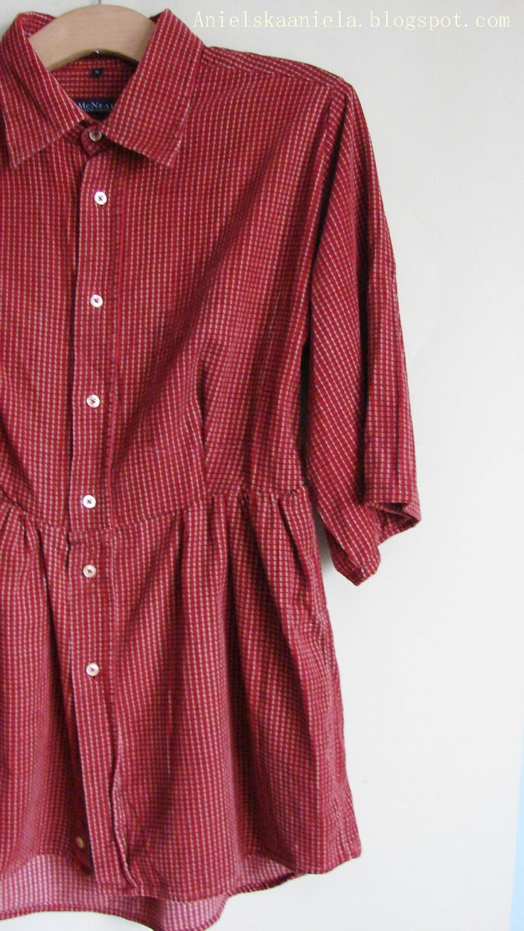DIY tutorial men's shirt men's shirt refashion diy how to convert a man's shirt, how to convert and shrink the shirt? | Angelic Aniela-DIY Tutorial, Sewing, Sewing, processing, beauty, health -Blog of alterations and sewing