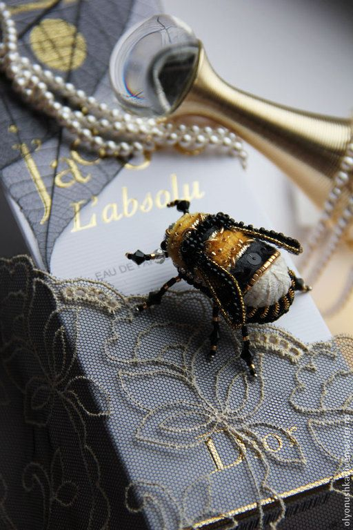 """Купить Брошь """"Fluffy calabrone.Primavera in Italia"""" - винтажные украшения, старинный стиль"""