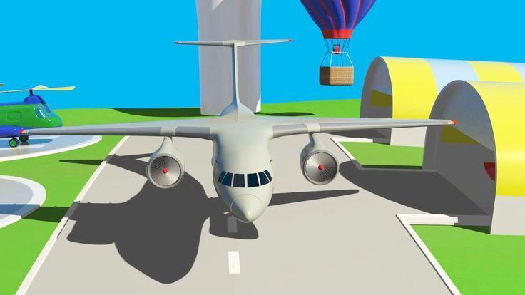 Cartoni animati per bambini - All'aeroporto: Un aereo per i passeggeri (Boeing)