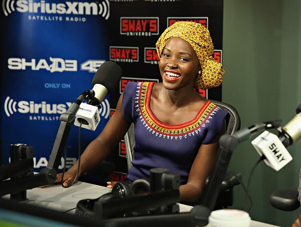 Actress Lupita Nyong'o visits 'Sway in the Morning' with Sway Calloway on Eminem's Shade 45 at the SiriusXM Studios on September 26 2016 in New York...