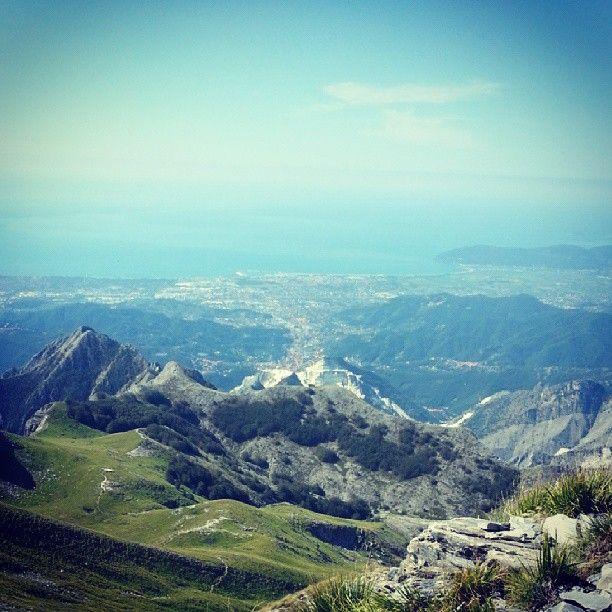 Il bellissimo panorama dal Monte Sagro!