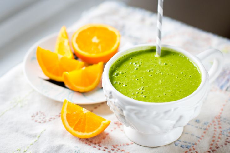 Orange Creamsicle Green Monster! -Spinach -Orange -Oats -Banana -Milk ...