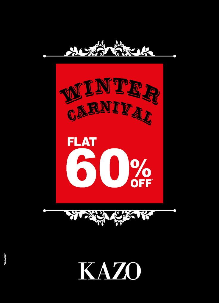 KAZO Winter Carnival: Get Flat 60% Off from 22nd to 28th Jan on all winter wear.