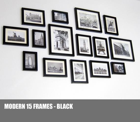Photo Picture Wall Frame Set Gallery Modern 15 Wall Frame Set Frames On Wall Frame Wall Collage