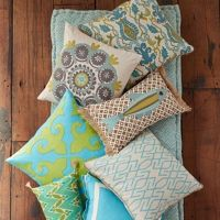Colorful pillows available at Pineapples Palms Etc in Jupiter, Fl