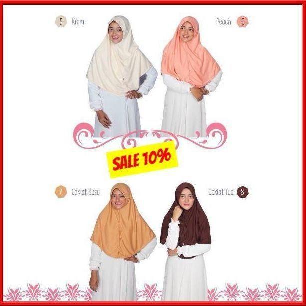SALE 10% Hijab Alsa Berri Bergo Kaos Syari - hijab kerudung khimar jilbab syari Untukmu yg cantik syari dan trendy . . Bergo kaos syari untuk aktivitas sehari - hari. Bahan kaos PE Double yang nyaman dipakai lembut adem dan tidak terawang. Bentuk segitiga yang cukup panjang pada bagian belakang bergo. . . Harga : - S = Rp 45.000- menjadi Rp 40.500- - M & L = Rp 50.000- mejadi Rp 45.000- - XL = Rp 55.000- menjadi Rp 49.500- . . Ukuran : Panjang Depan (dari dagu) / Panjang Belakang - S : 46…