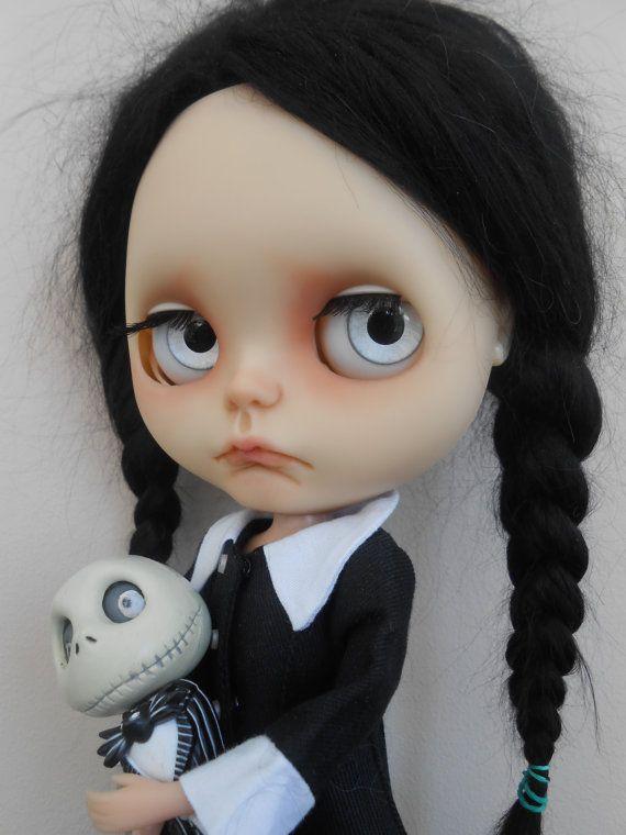 Custom Blythe Doll Wednesday Addams