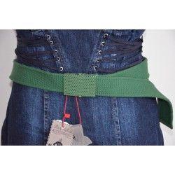 Bershka dámský pásek olivově zelený 85; belt