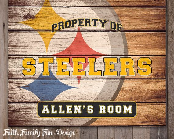 Personalized Nfl Man Cave Signs : Nfl pittsburgh steelers team sign printable personalized
