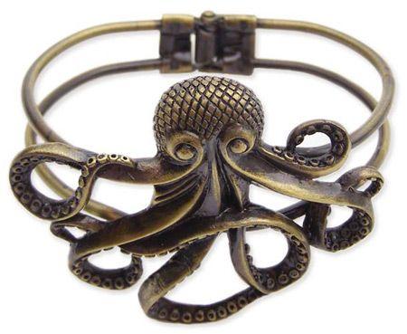 Antique Gold Octopus Bracelet