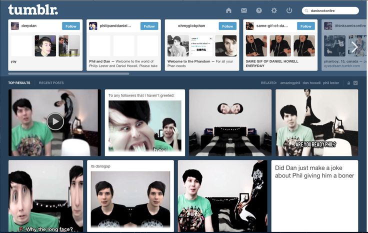 the 'danisnotonfire' tag on tumblr