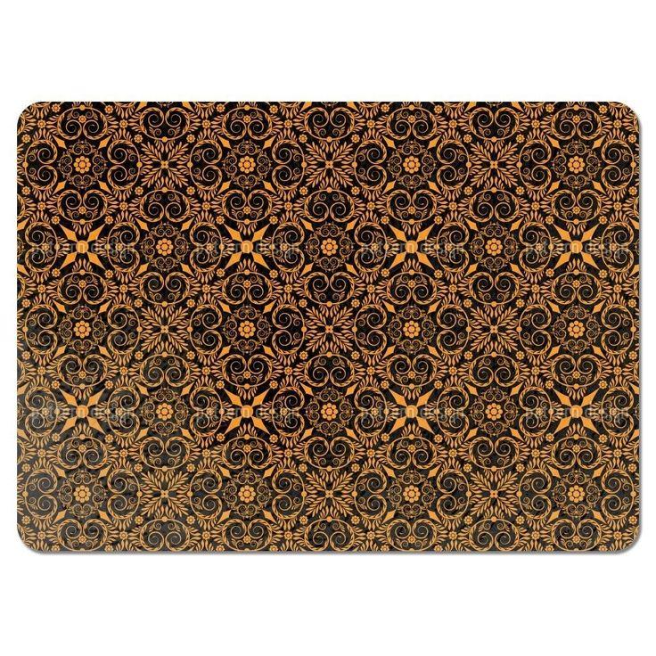 Uneekee Opulenta Orange Placemats (Set of 4) (Opulenta Orange Placemat) (Polyester)