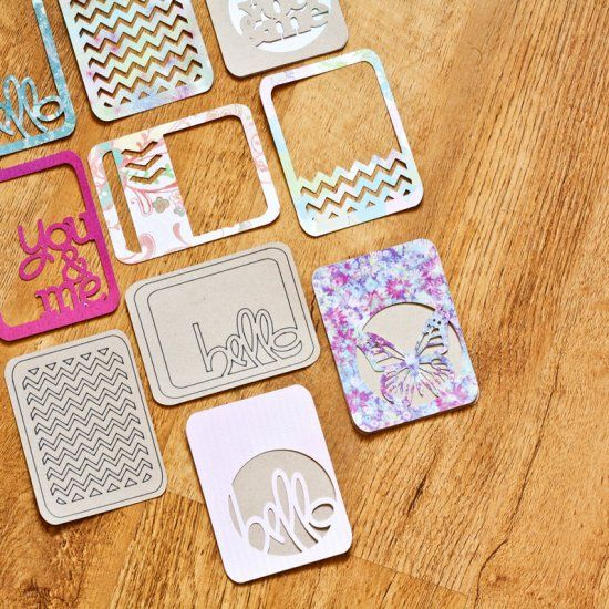 DIY Journaling Cards Tutorial With The Cricut Explore. Make some fun die-cut project life and journaling cards today.