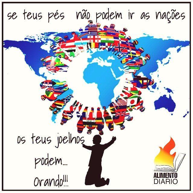 """VERSÍCULO: """"Bem-aventurada é a nação cujo Deus é o SENHOR e o povo ao qual escolheu para sua herança."""" Salmos 33:12  PENSAMENTO: Orar e interceder por nosso país e pelo mundo é o mínimo que podemos fazer. Precisamos nos empenhar a investir o nosso tempo em oração clamando ao Senhor para que ele possa entrar com providências e mudar o curso de nosso país e do mundo. Não podemos nos conformar e nos acomodar em ver o mundo caminhando de mal a pior não podemos aceitar a corrupção prostituição…"""