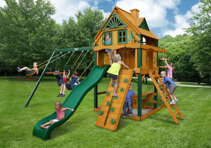 ALL NEW for 2016. Gorilla Mountain Ridge Playset is a new addition to Gorilla Swing Sets impressive line! Comes with tree house enclosed fort. Has a unique tongue groove style wood roof. So much fun to be had. Swing Set Paradise SHIPS FREE on all swing sets & playsets. Unlike big box stores there is NO TAX besides New Jersey. We also have installation services for almost every state. Check it out: http://www.swingsetparadise.com/gorilla-mountain-ridge-playset-2016-free-shippng-p-195.html
