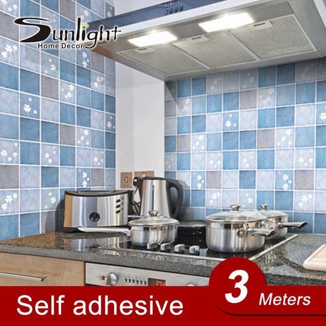 alta calidad de la cocina etiqueta de la pared pegatinas anti humo aseo impermeable papel