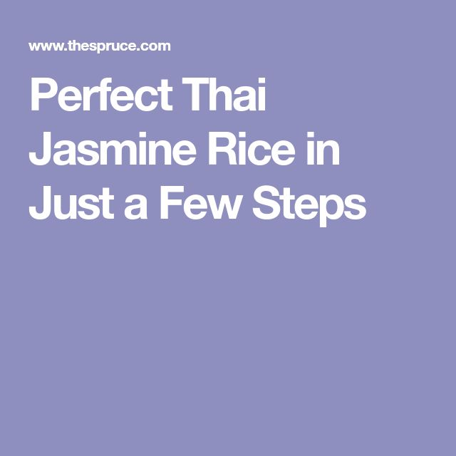 Perfect Thai Jasmine Rice in Just a Few Steps