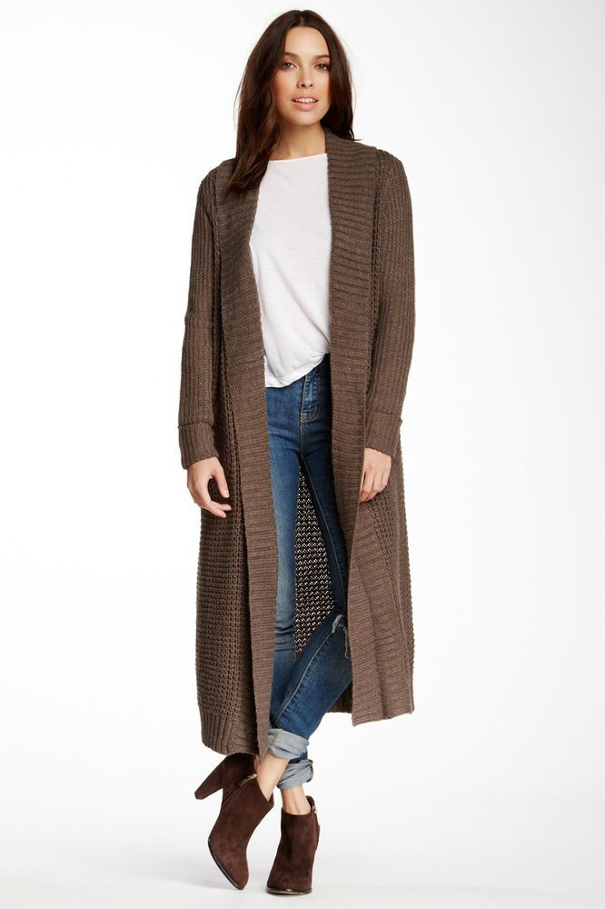 New Women Long Sleeve Knitted Cardigan Coat Jacket Outwear Casual Loose Sweater