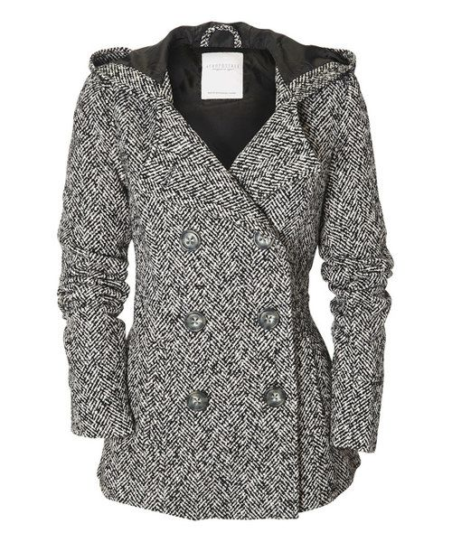 This Black Herringbone Hooded Peacoat by Aéropostale is perfect! #zulilyfinds