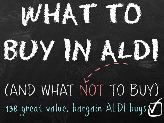 What to buy in Aldi (and what not to buy) - A Thrifty Mrs