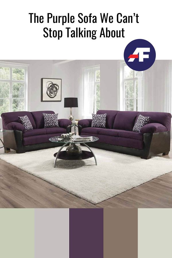 The Purple Sofa We Can T Stop Talking About In 2020 Purple Sofa