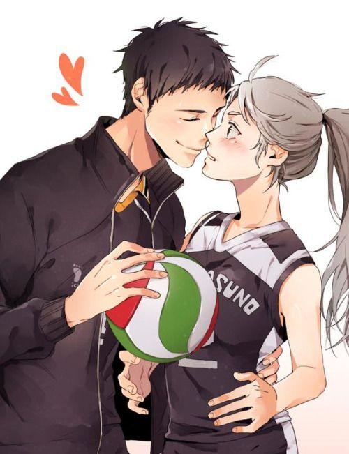 Daichi and female Sugawara
