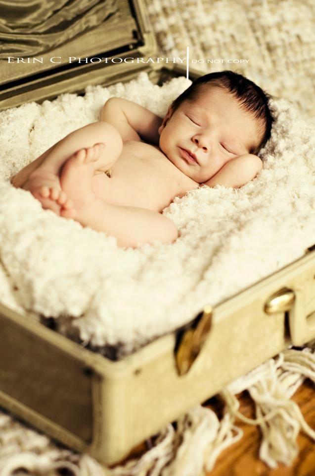 When Josh and I have children we should totally take a picture of them in a suitcase! They will be traveling a lot!