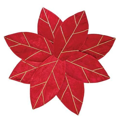 Amazon.com - Red Poinsettia Christmas Tree Skirt - Christmas Tree Skirts