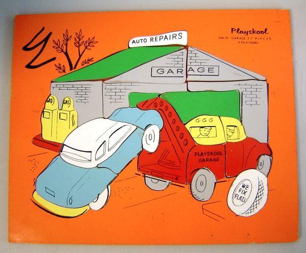 Playskool Car Repair Garage Wooden Puzzle