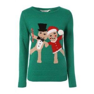 Womens Gingerbread Christmas Jumper