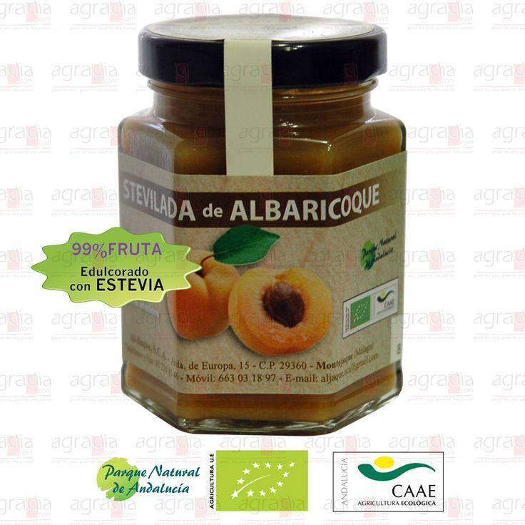 99% Albaricoque ecológico endulzado con stevia. #Apricot #Jam  - See more at: http://agradia.com/gourmet/mermelada/stevilada-de-albaricoque-ecologica-115gr-detail