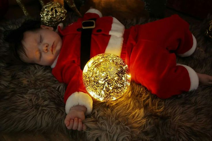 Santa baby christmas photography magical baby