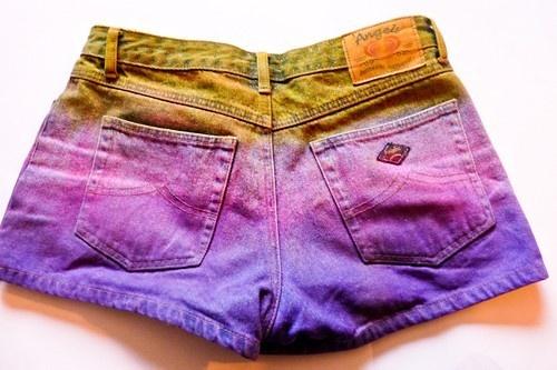 Dip Dyed Shorts.