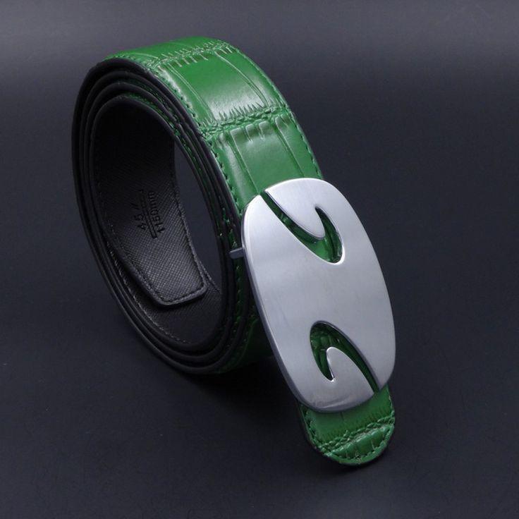 sale 2017 silver color pin buckle genuine leather men business belt male casaul jeans belts black #silver #belt #buckle