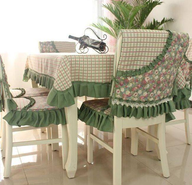 MENTŐÖTLET - kreáció, újrahasznosítás: Asztalruha, székruha